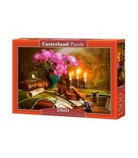 Пазл - Натюрморт со скрипкой и цветами (Castorland) 1500 эл.