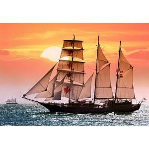 Пазл - Вітрильне судно. Захід сонця (Castorland) 1000 ел.