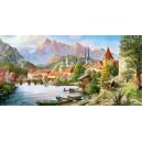 Пазл - Город в тени горы (Castorland) 4000 эл.