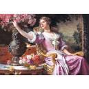 Пазл - Леді в пурпуровій сукні