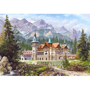Пазл - Замок у подножия гор (Castorland) 3000 эл.