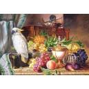 Пазл - Натюрморт з фруктами та какаду