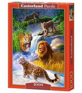 Пазл - Большие кошки (Castorland) 1000 эл.