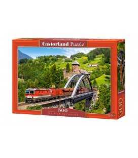 Пазл - Поезд на мосту (Castorland) 500 эл.