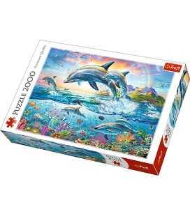 Пазл - Щасливі дельфіни (Trefl) 2000 ел.