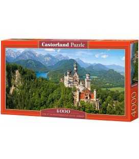 Пазл - Вид на замок Нойшванштайн (Castorland) 4000 ел.