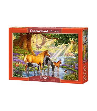 Пазл - Лошади у ручья (Castorland) 1000 эл.