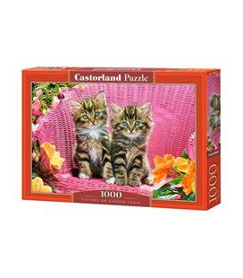 Пазл - Кошенята на садовому стільці (Castorland) 1000 ел.