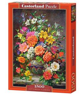 Пазл - Сентябрьские цветы (Castorland) 1500 эл.