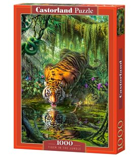 Пазл - Тигр в джунглях (Castorland) 1000 эл.
