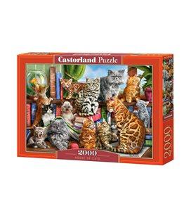 Пазл - Дом кошек (Castorland) 2000 эл.