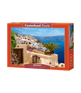 Пазл - Санторини, Греция (Castorland) 2000 эл.