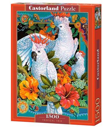 Пазл - Тропическое трио (Castorland) 1500 эл.