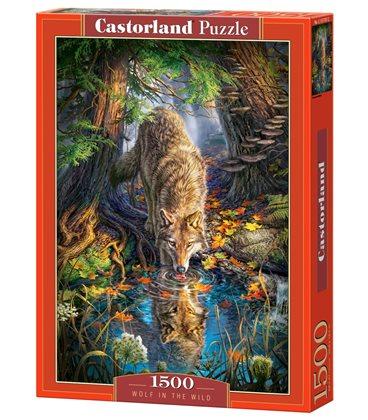 Пазл - Волк в дикой природе (Castorland) 1500 эл.