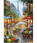 Пазл - Весенние цветы, Париж (Castorland) 1000 эл.