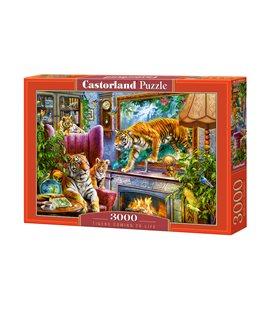 Пазл - Тигри повертаються до життя (Castorland) 3000 eл.