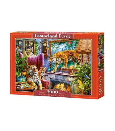 Пазл - Тигры возвращаются к жизни (Castorland) 3000 эл.