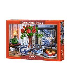 Пазл - Натюрморт с тюльпанами (Castorland) 1500 эл.
