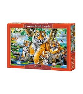 Пазл - Тигры у ручья (Castorland) 1000 эл.