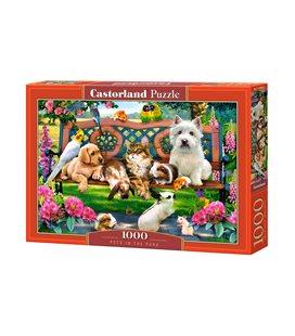 Пазл - Домашние животные в парке (Castorland) 1000 эл.