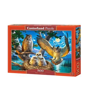Пазл - Семья совы (Castorland) 500 эл.