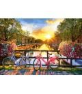 Пазл - Мальовничий Амстердам з велосипедами (Castorland) 1000 ел.