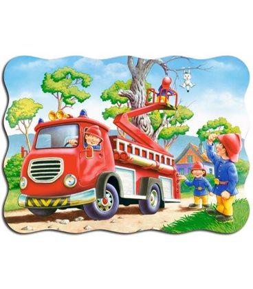 """Пазли """"Пожежники рятують кошеня"""", 30 ел По-03174"""