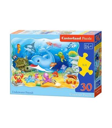 """Пазли """"Дельфін в підводному світі"""", 30 ел По-03501"""