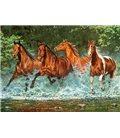 """Пазлы """"Лошади, бегущие по воде"""", 300 элементов В-030361"""