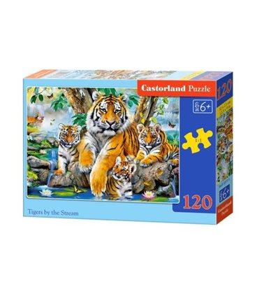 """Пазлы """"Семейство тигров"""", 120 эл B-13517"""