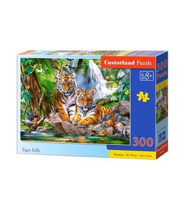 """Пазли """"Тигри біля водоспаду"""", 300 елементів B-030 385"""