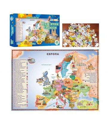 "Пазл ""Карта Європи"", 110 елементів КП-002"
