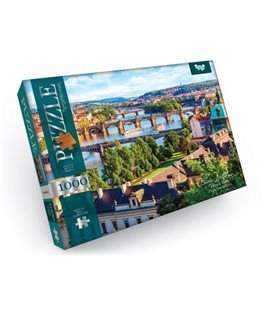 """Пазли """"Річка Влтава, Прага, Чехія"""", 1000 ел C1000-09-01"""