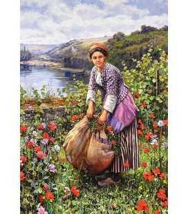 Пазл - Деревенская девушка (Castorland) 1500 эл.