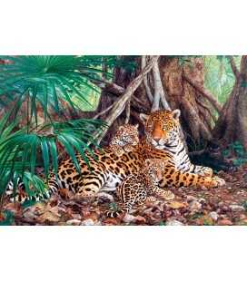 Пазл - Ягуари в джунглях (Castorland) 3000 ел.