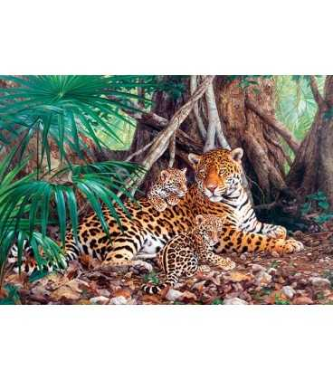 Пазл - Ягуары в джунглях (Castorland) 3000 эл.