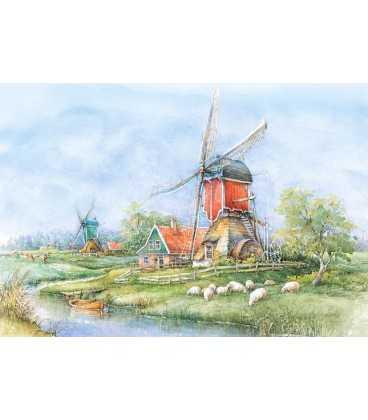 Пазл - Деревня, Голландия (Castorland) 1000 эл.