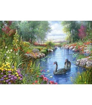 Пазл - Черные лебеди, Андрес Орпинас (Castorland) 1500 эл.