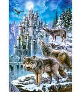 Пазл - Волки у замка(Castorland) 1500 эл.