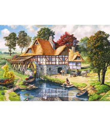 Пазл - Водяная мельница коттедж (Castorland) 2000 эл.