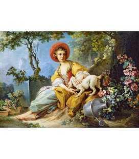 Пазл - Девушка с собакой (Castorland) 1500 эл.