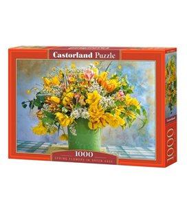 Пазлы Весенние цветы в зеленой вазе, 1000 элементов C-104567