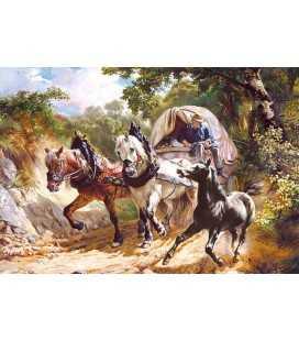 Пазл - Повозка на узкой дороге (Castorland) 3000 эл.