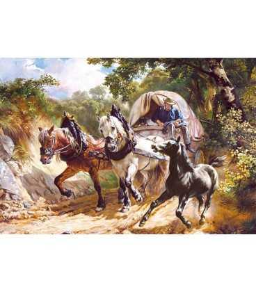 Пазл - Повозка на узкой дороге