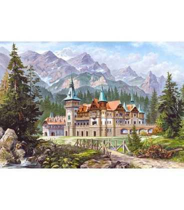 Пазл - Замок у подножия гор