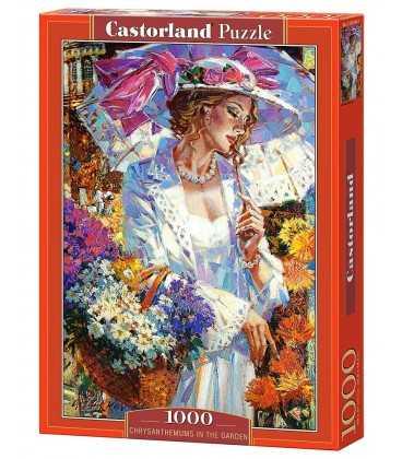 Пазл - Хризантеми в саду (Castorland) 1000 ел.