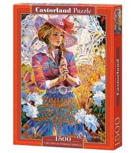 Пазл - Девушка с ажурным зонтиком (Castorland) 1500 эл.