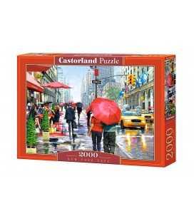Пазл - Кафе в Нью-Йорке  (Castorland) 2000 эл.