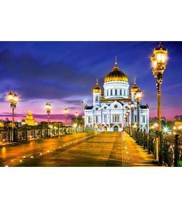Пазл - Храм Христа Спасителя ночью (Castorland) 1000 эл.