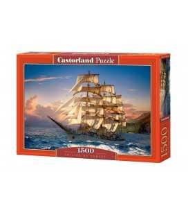 Пазл - На закате под парусом (Castorland) 1500 эл.